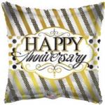 "HAPPY ANNIVERSARY BALLOON 18""   15085-18"